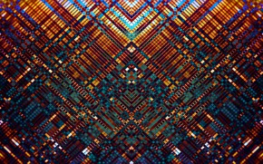Picture mosaic, abstraction, pattern, bright