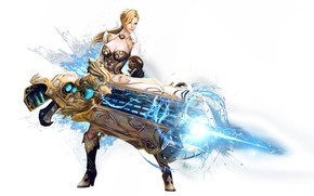 Picture girl, weapons, fantasy
