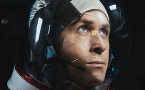 Picture astronaut, Ryan Gosling, Ryan Gosling, First Man, the first person, Man on the moon