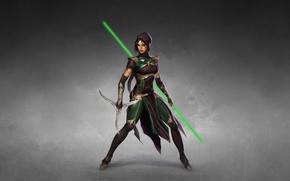 Picture Girl, Minimalism, Style, Girl, Warrior, Fighter, Style, Warrior, Fiction, Mortal Kombat, Fiction, Illustration, Character, Jade, …