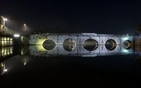 Picture italy, architecture, rimini, Tiberio Bridge