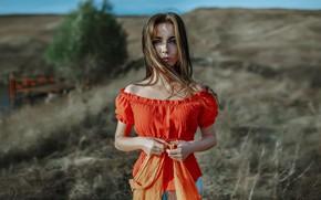 Wallpaper water, tree, hair, Girl, Andrey Metelkov, Andrey Metel'kov