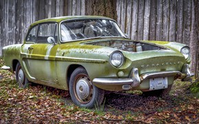 Picture old, rusty, car, Renault Caravelle