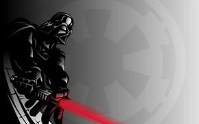 Picture art, Darth Vader, lightsaber