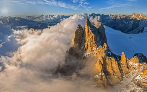 Picture France, mountain, peak, Эгюий-дю-Миди