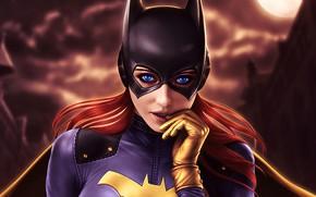 Picture eyes, fiction, mask, hero, Batman, Gotham City, Batgirl City