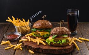 Picture Hamburger, potatoes, free, Fast food, Burger, Pepsi-Cola, Kamran Aydinov