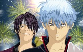Picture guys, fireworks, Gintama, Gintama