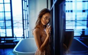 Picture look, girl, face, hand, bath, Denis Lytkin, Taisiya Metrofanova