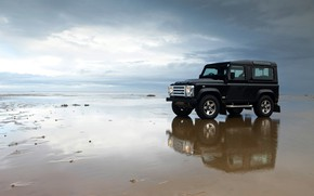 Picture beach, 2008, Land Rover, Defender, SVX, 60th Anniversary Edition