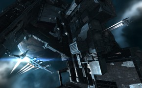 Picture space, planet, station, space, spaceship, station, eve online, space ship, coooper, empyrean age