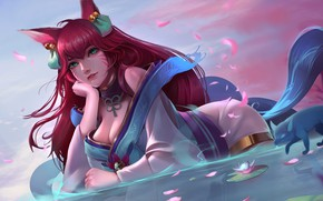 Picture The game, game, green eyes, beautiful girl, green eyes, beautiful girl, league of legends, fantasy …