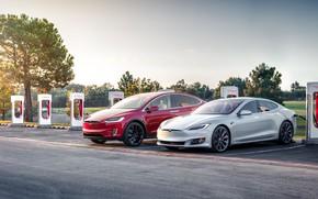 Picture USA, USA, Tesla, Tesla, Supercharger, Tesla Model S, Tesla Model X