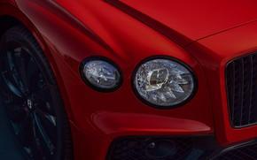 Picture Bentley, headlight, Flying Spur, 2020, V8, 2021, Flying Spur V8