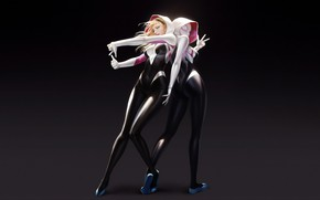 Picture ass, girls, marvel, comics, blonde, spider man, comic, gwen stacy, spider gwen, superheroines