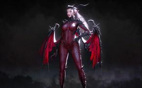Picture Girl, Style, Girl, Wings, The demon, Fantasy, Art, Devil, Succubus, Style, Fiction, Figure, Illustration, Succubus, …