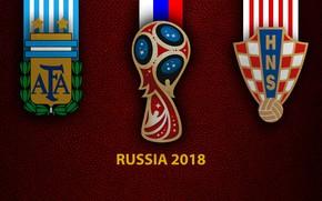 Picture wallpaper, sport, logo, football, FIFA World Cup, Russia 2018, Argentina vs. Croatia