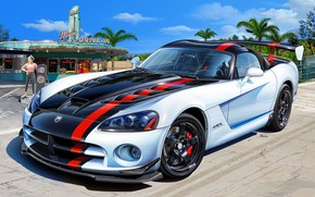 Picture USA, Dodge Viper, SRT 10, ACR, Sports car