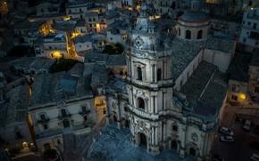 Wallpaper Italy, Sicily, Modica, The cathedral of San Giorgio