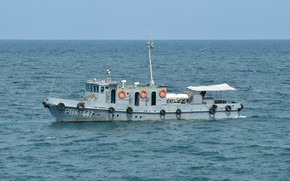 Picture boat, the black sea, special, diving