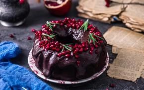 Picture dessert, cakes, chocolate, garnet, cupcake