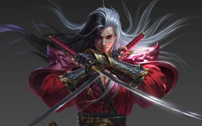 Picture weapons, the game, warrior, fantasy, art, daggers, A year ago work, Yang chen