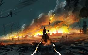 Picture Figure, Smoke, Fire, Warrior, Art, Dominik Mayer, by Dominik Mayer, Love is in the Air