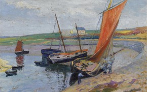 Picture picture, sail, Paul Madeline, Paul Madeline, Boat on the beach