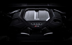 Picture Audi, engine, universal, TFSI, RS 6, 2020, 2019, 600 HP, V8 Twin-Turbo, RS6 Avant, 4.0 …