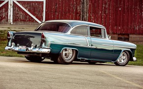 Picture Chevrolet, Car, Bel Air, Coupe