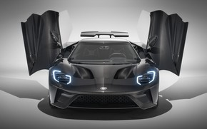Picture Ford, supercar, Ford GT, front view, 2020, Liquid Carbon