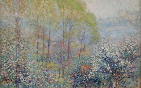Picture landscape, picture, Karl Albert Buehr, Carl Albert FYR, 1909-11, Spring in Giverny