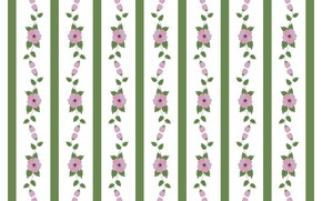 Picture line, flowers, white background, pattern, floral, textures