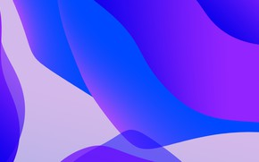 Picture Apple, abstract, Blue, September, 2019, iOS 13, iPadOS