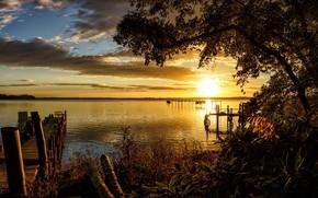 Picture landscape, sunset, beauty