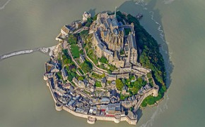 Picture France, the monastery, Normandy, Mont-Saint-Michel