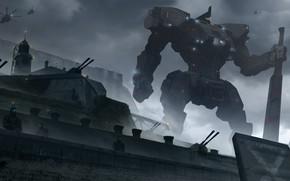 Picture robot, sword, strengthening, art, pacific rim, jaeger