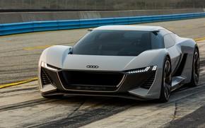 Picture asphalt, grey, Audi, track, 2018, PB18 e-tron Concept