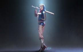 Picture Girl, Figure, Light, Girl, Bit, Art, Beauty, Harley Quinn, Sexy, Character, Harley Quinn, DC comics, …