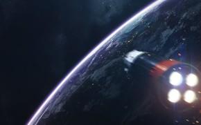 Picture Stars, Planet, Space, Flight, Engine, Rocket, Art, Stars, Space, Art, Spaceship, Planet, Universe, Galaxy, Fiction, …