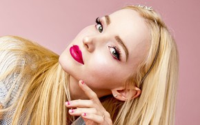 Picture look, girl, makeup, blonde, lips, Peyton List