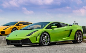 Picture Lamborghini, Gallardo, Green