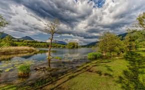 Picture the sky, clouds, France, Savoie, Sainte-hélène-du-Lac