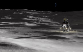 Picture surface, the moon, the astronauts, Orion's