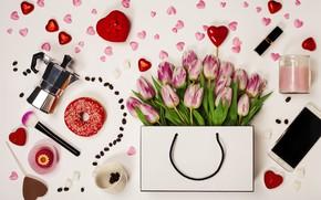 Picture box, tulips, composition, Valentine's day, Natalia Klenova