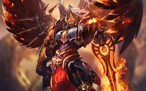 Picture Fire, Armor, Style, Sword, Warrior, Wings, Flame, Fantasy, Fire, Art, Art, Flame, Style, Warrior, Fiction, …