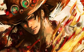 Picture hat, guy, One Piece
