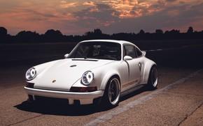Wallpaper sunset, 911, Porsche, 2018, Singer DLS, Singer Vehicle Design