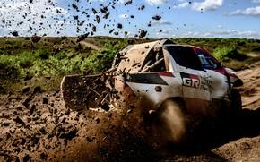 Picture earth, dirt, Toyota, pickup, Hilux, 2019, Gazoo Racing