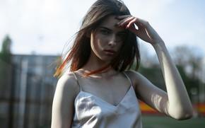 Picture look, girl, freckles, Velvet Morris, Nastya Kharkevich